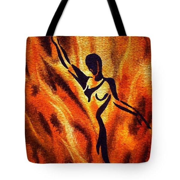 Dancing Fire Vii Tote Bag by Irina Sztukowski