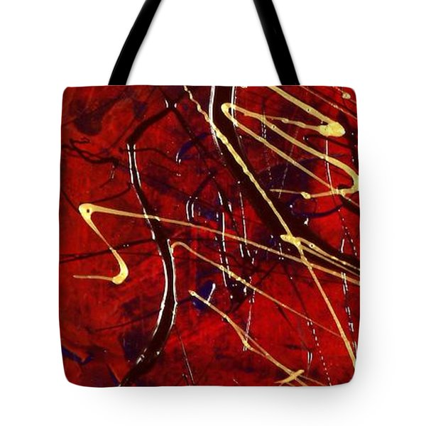Dancing Gold Tote Bag