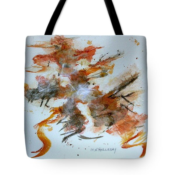 Tote Bag featuring the mixed media Dancing by Mary Kay Holladay