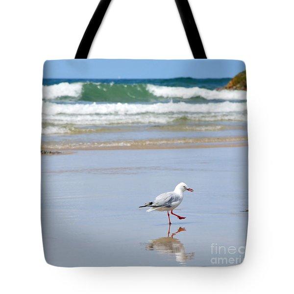 Dancing On The Beach Tote Bag by Kaye Menner