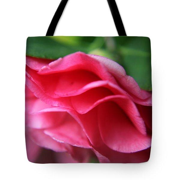 Dancing Petals Of The Camellia Tote Bag