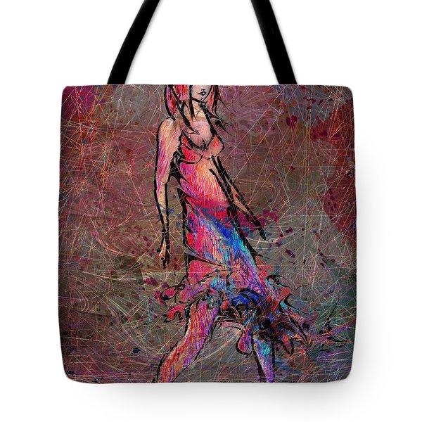Dancing The Nights Tote Bag by Rachel Christine Nowicki
