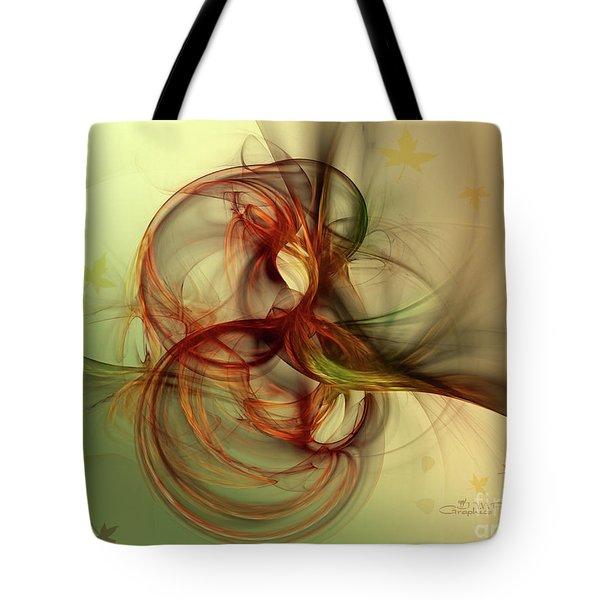 Dancing Wood Spirit Tote Bag by Jutta Maria Pusl
