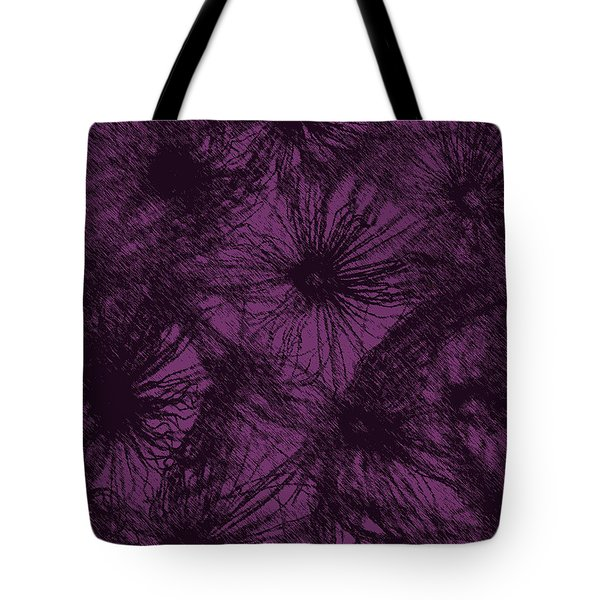 Dandelion Abstract Tote Bag by Ernie Echols