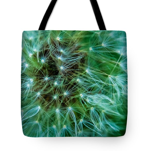 Dandelion Puff-green Tote Bag