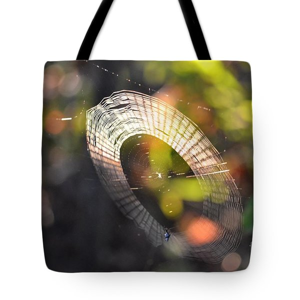 Dappled Web Of Deceit Tote Bag by Maria Urso
