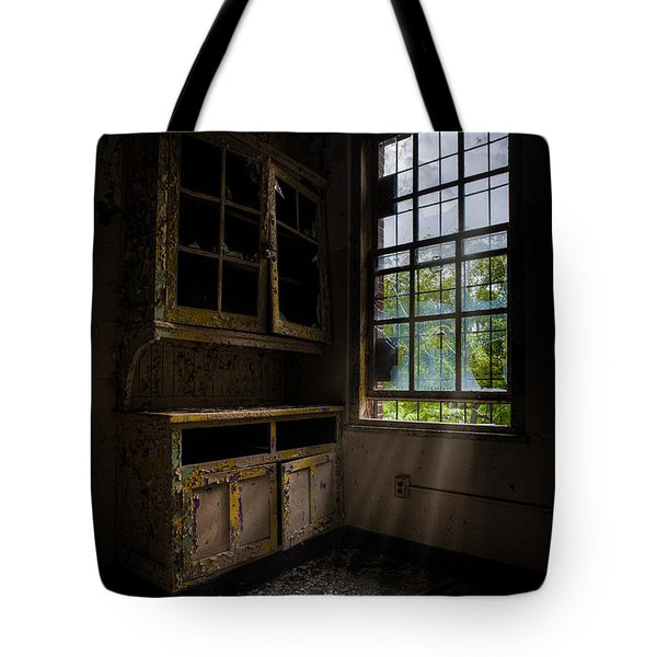 Dark And Empty Cabinets Tote Bag by Gary Heller