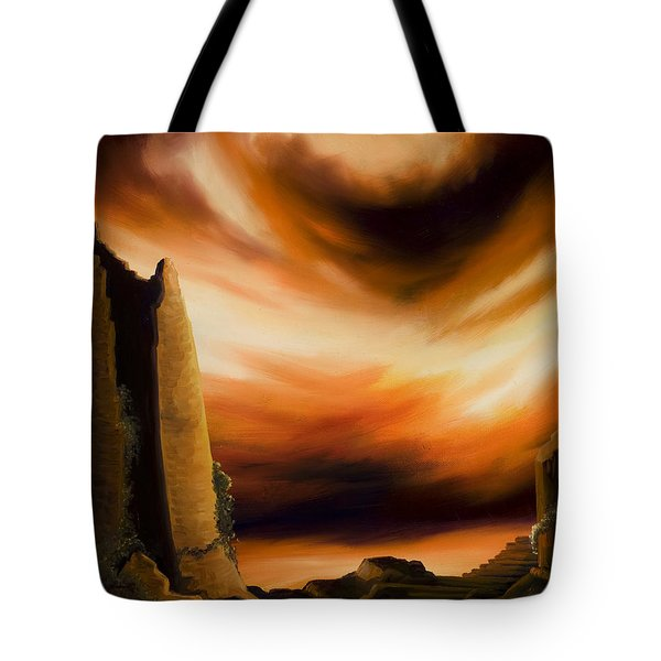 Dark Columns Tote Bag by James Christopher Hill