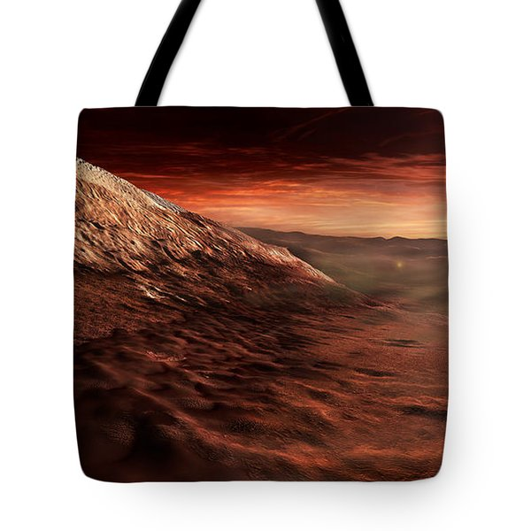 Dark Dunes March Along The Floor Tote Bag by Steven Hobbs
