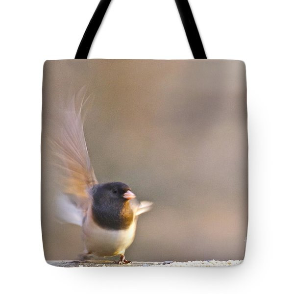 Dark-eyed Junco Taking Flight Tote Bag by Sean Griffin