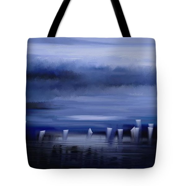 Tote Bag featuring the painting Dark Mist by Eleonora Perlic