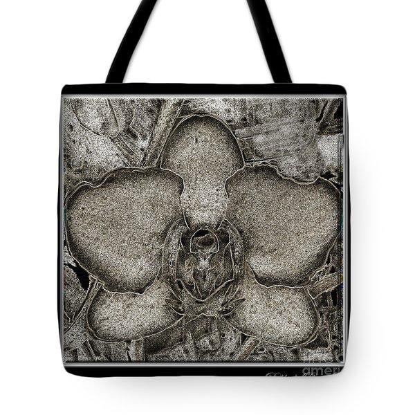 Dark Orchid Tote Bag by Debbie Portwood