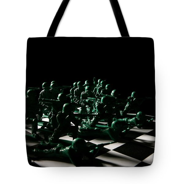 Dark Squares Tote Bag by Lon Casler Bixby