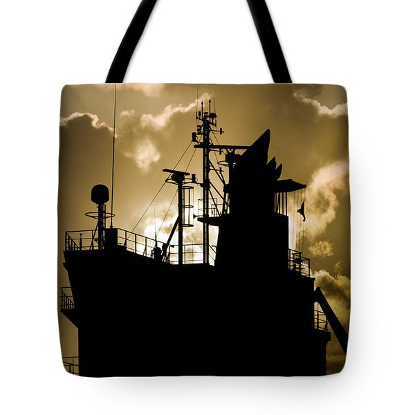 Dark Superstructure Tote Bag