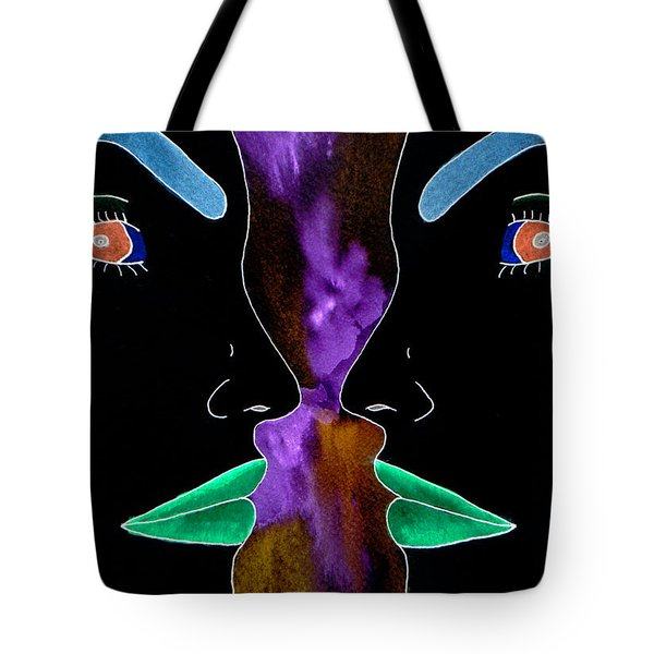 Tote Bag featuring the painting Dark Thoughts by Paula Ayers