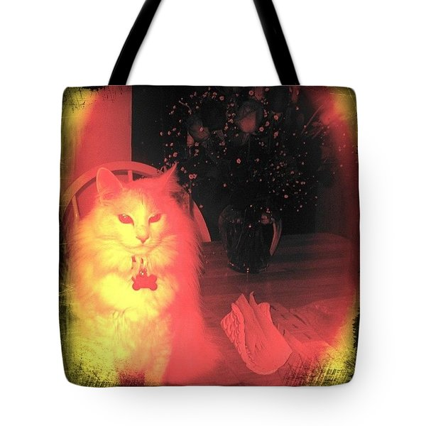 David Kitty Miss You So! #cats #soft Tote Bag