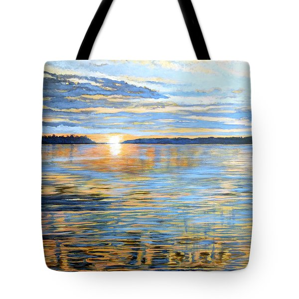 Tote Bag featuring the painting Davidson Quebec by Tom Roderick