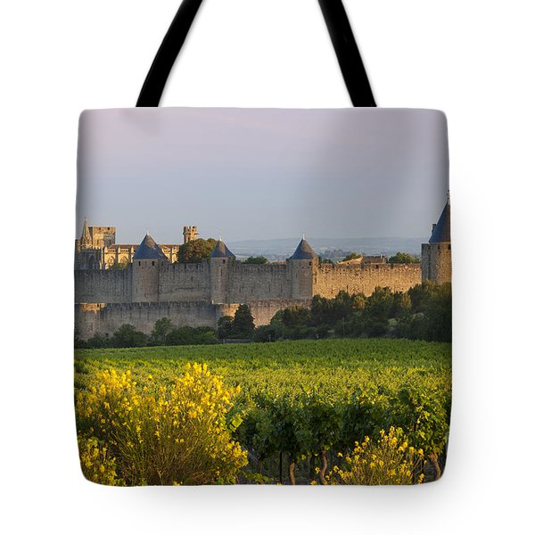 Dawn In Carcassonne Tote Bag by Brian Jannsen