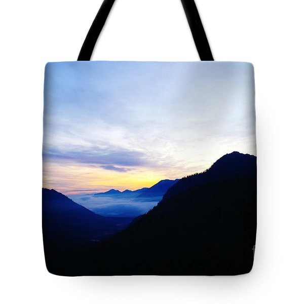 Dawn In The Foothills Of The Cascades  Tote Bag