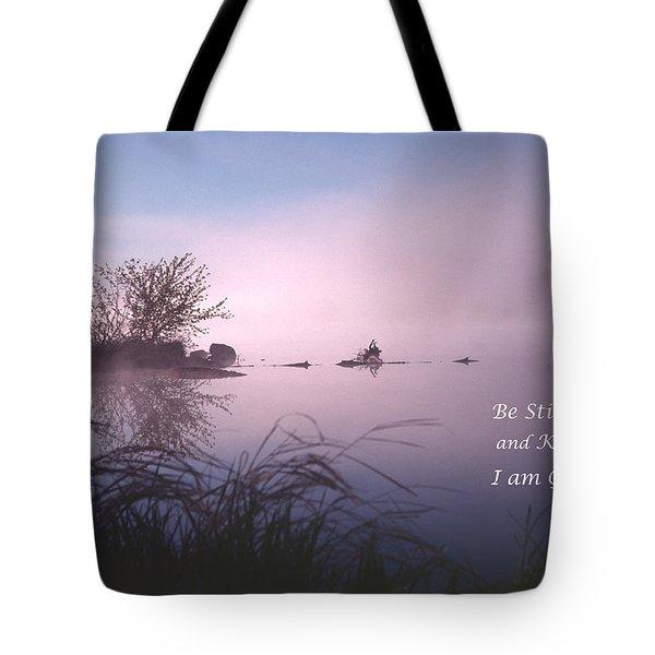 Dawn On The Chippewa River Tote Bag