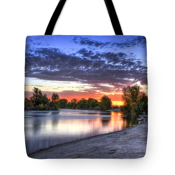 Day At The Lake Tote Bag by Marta Cavazos-Hernandez