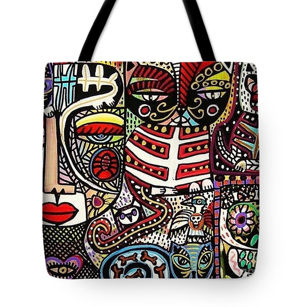 Day Of The Dead Cats Tote Bag by Sandra Silberzweig