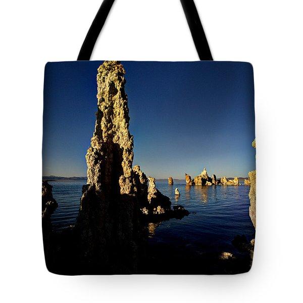 Daybreak On Mono Lake Tote Bag by Joe Schofield