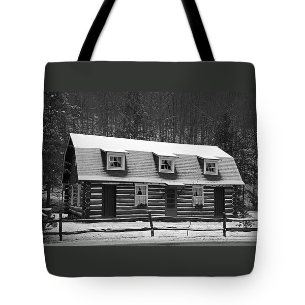 Days Of Yore Log Cabin Tote Bag by John Stephens