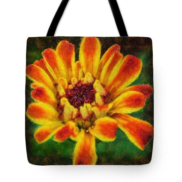 Dazzling Zinnia Tote Bag