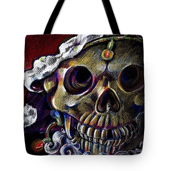 Tote Bag featuring the drawing Dead Christmas by Nada Meeks