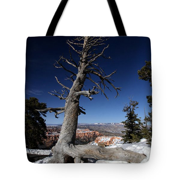 Tote Bag featuring the photograph Dead Tree Over Bryce Canyon by Karen Lee Ensley