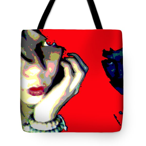 Deadly Kisses Tote Bag by Jimi Bush