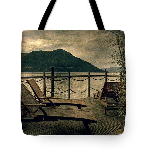 Deck Chairs Tote Bag by Joana Kruse