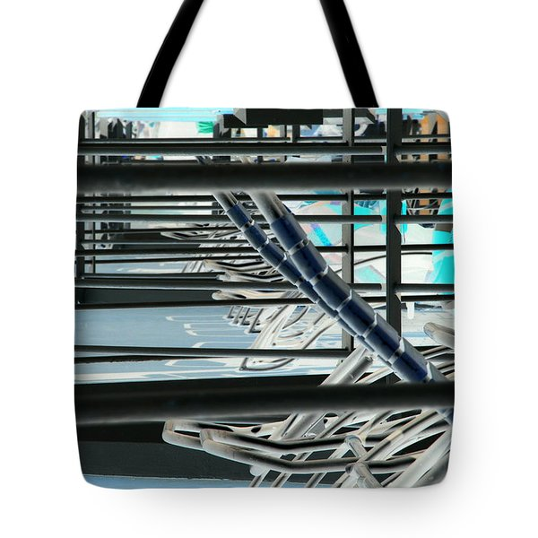 Tote Bag featuring the photograph Deck Chairs by John Schneider