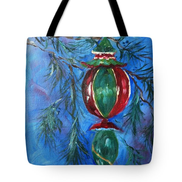 Tote Bag featuring the painting Deck The Halls by Carol Berning