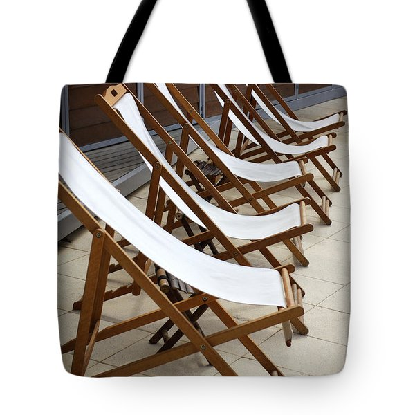 Deckchairs Tote Bag by Carlos Caetano