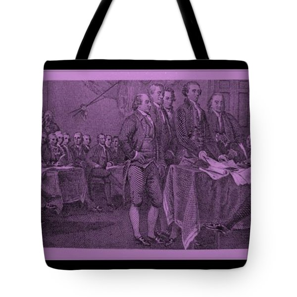 Declaration Of Independence In Pink Tote Bag by Rob Hans