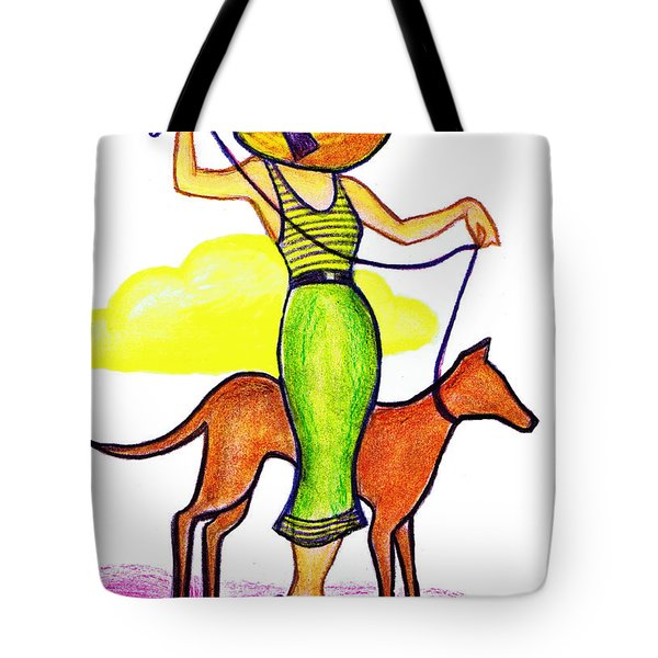 Deco Dog Walker Tote Bag by Mel Thompson