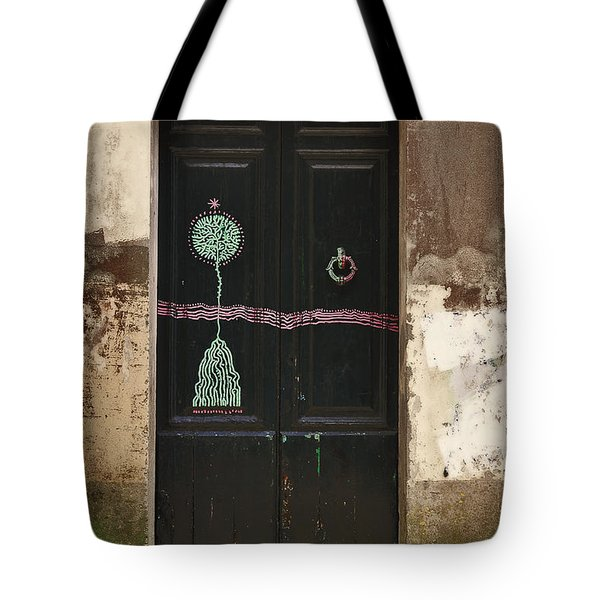 Decorated Door Tote Bag by Mary Machare