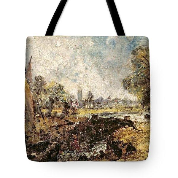 Dedham Lock Tote Bag by John Constable