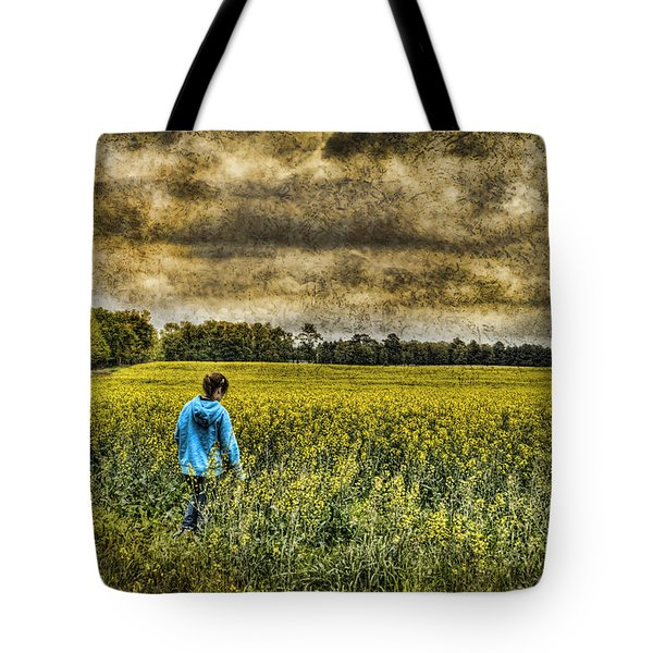 Deep In Thought Tote Bag by Kathy Clark