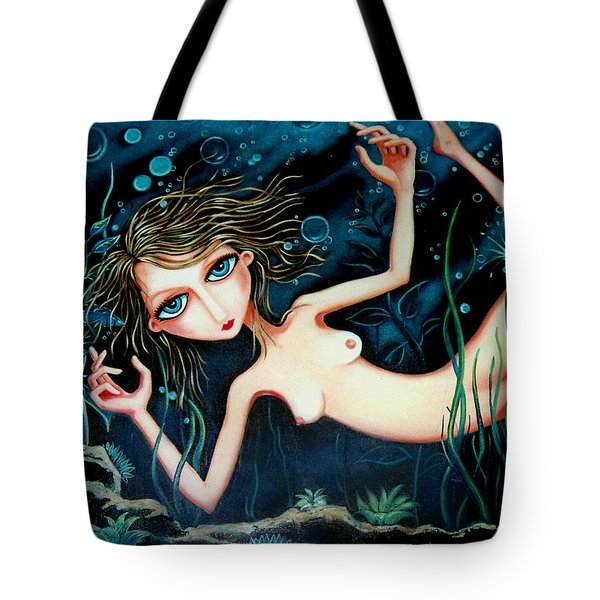 Tote Bag featuring the painting Deep Pond Dreaming by Leanne Wilkes