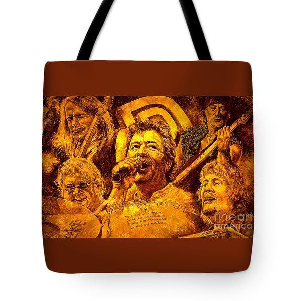 Deep Purple In Rock Tote Bag by Igor Postash