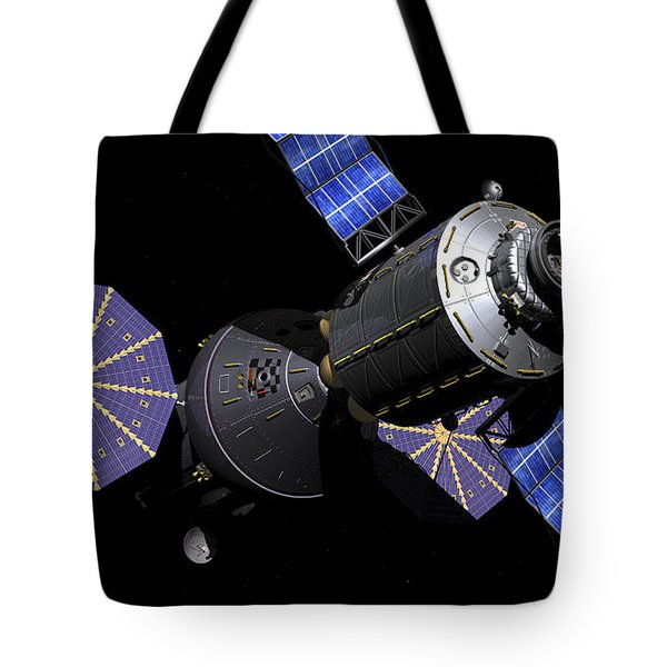 Deep Space Vehicle And Extended Stay Tote Bag by Walter Myers