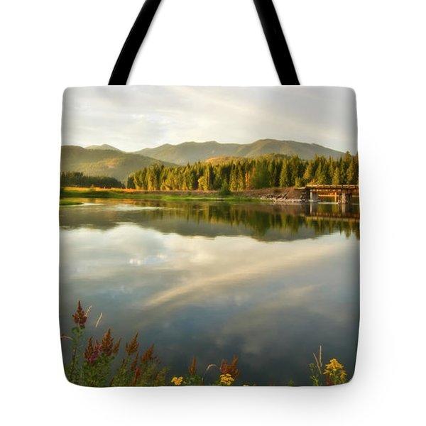 Tote Bag featuring the photograph Deer Island Bridge by Albert Seger