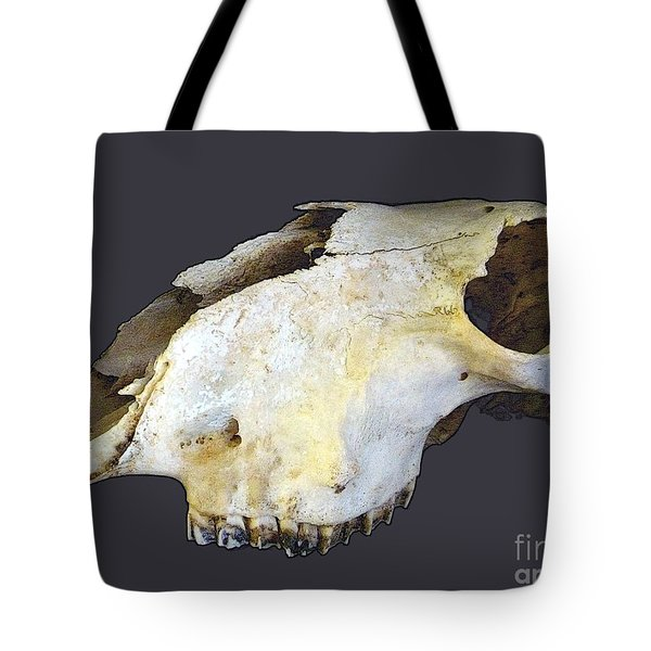 Deer Skull Tote Bag by Renee Trenholm