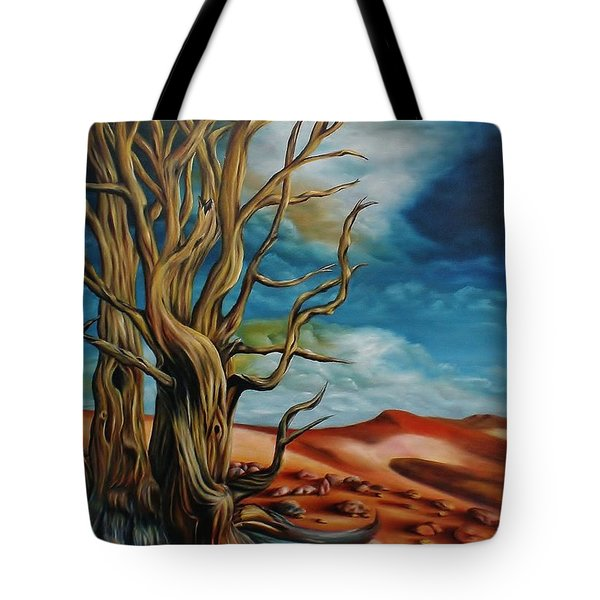 Tote Bag featuring the painting Defying Time by Paula L