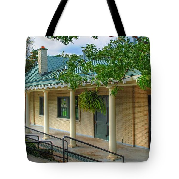 Tote Bag featuring the photograph Delaware Park Casino by Michael Frank Jr