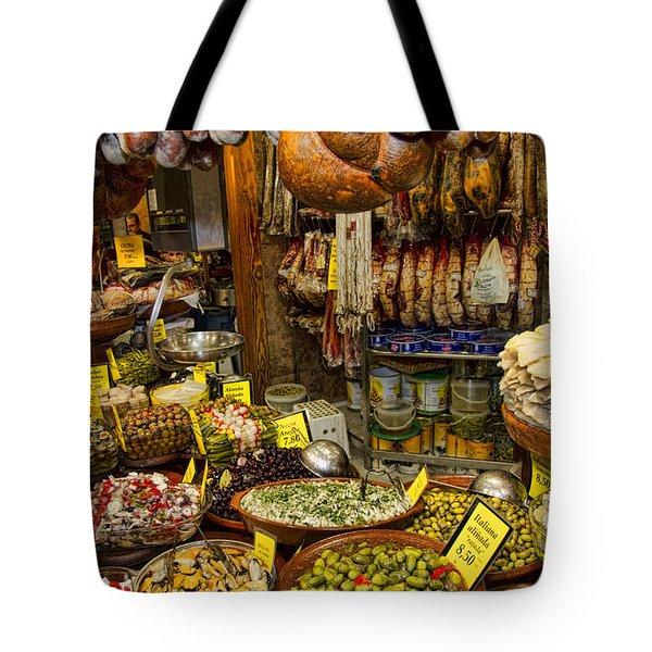 Deli In The Olivar Market In Palma Mallorca Spain Tote Bag by David Smith