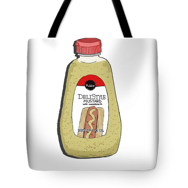 Deli Style Mustard Tote Bag by George Pedro